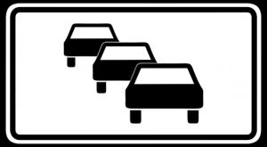 Stau Verkehrszeichen