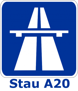 Stau A20