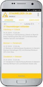 Staumelder MOBILE App 2